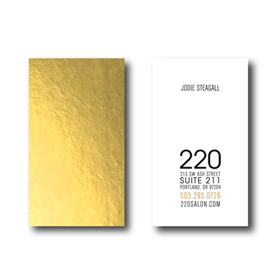 220 Salon Business Cards