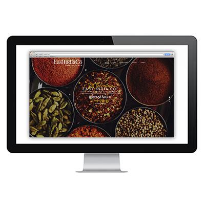 East India Co. Website Design