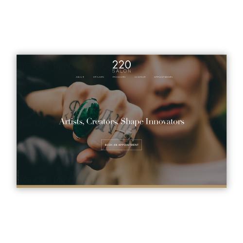 220 Salon Website Redesign